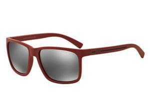 Exchange Armani 0AX4041S Sun Full Rim Square Mens Sunglasses - Size - 58 (Matte Red / Mirror Silver)