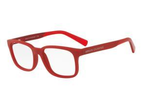 Exchange Armani 0AX3029F Optical Full Rim Square Mens Sunglasses - Size - 55 (Matte Red / Transparent)