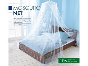 Elegant Mosquito Net Bed Canopy Set, White, 23.6x86.6 Inches