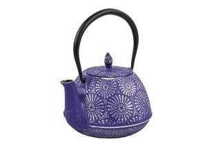 Spigo Nagano Cast Iron Enamel Infuser Teapot, Purple, 40 Ounces