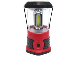 Mighty Power C.O.B. LED Lantern With Compass & Handle, Red-Black, 750 Lumens