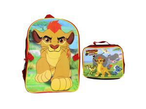 Disney Boys' Lion Guard Backpack with Lunch Kit, 16 Inches