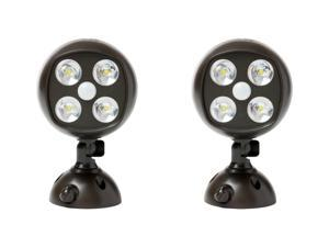 Mighty Power Wireless Motion Sensor 4 Ultra Bright CREE LED Spotlight, 2-Pack, Weatherproof, Brown
