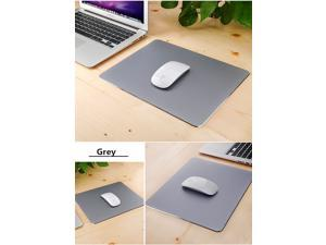 Mouse Pad Gaming Aluminium Mouse Pad W Non-slip Rubber Base & Micro Sand Blasting Aluminium Surface for Fast and Accurate Control-Grey