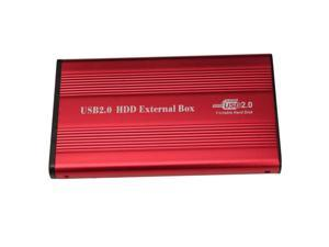 """2.5"""" USB 2.0 IDE HDD HD Hard Drive Enclosure Case Red"""