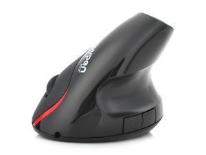 2.4GHz Wireless 1600DPI 5D Ergonomic Vertical Rechargeable Optical Mouse PC/Laptops Black