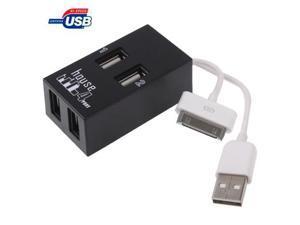 High Speed 4-Port USB 2.0 HUB, Supports Windows 7 / XP / 2000 / ME / 98/ Mac OS / OSX  (Black)
