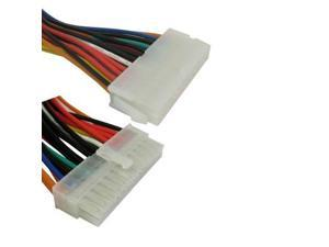 24 Pin Male to 24 Pin Female ATX Extension Cable, Length: 25cm