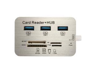 7 in1 USB 3.1 Type-C To USB 3.0 Hub MS M2 SD TF Card Reader Hub For Macbook Google Chromebook