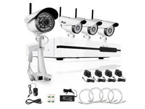 Zmodo 4CH 720P HD Network NVR Wireless IR-CUT Security Camera ZP-KB1I04-W