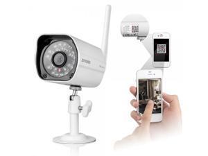 Zmodo Wireless Wifi CMOS 720P HD H.264 Waterproof Outdoor IP Camera with IR-CUT White