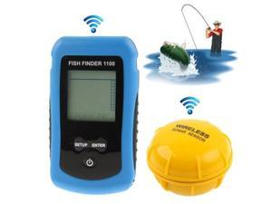 RF Wireless Fish Finder Color LCD Screen Display with Sonar Sensor, Wireless Operating Range: 40m  (1100) (Blue)