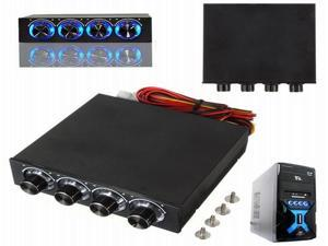 3.5 Inch 4 Channel CPU Cooling Fan Speed Controller for Desktop