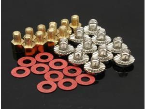 10x 6.5mm Brass Standoff 6-32 – M3 PC Case Motherboard Riser Screws Washers