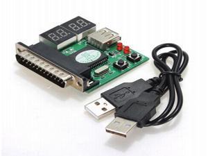 4-Bit PC Analyzer Diagnostic Motherboard LPT Tester USB Post Test Card For Laptop Desktop