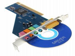 4 Channel C-Media 3D Audio Stereo PCI Sound Card Win7 32 64 Bit Vista