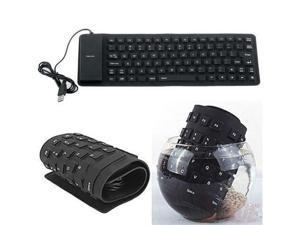 New USB 2.0 Mini Waterproof Silicone Roll Up Foldable PC Keyboard Laptop Notebook