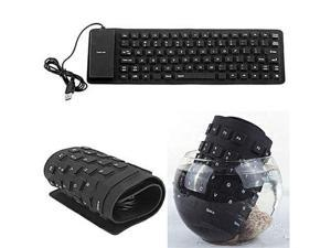 New Portable USB Silicone Flexible Roll Up Foldable PC Computer Laptop Keyboard