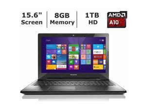 """Lenovo Laptop IdeaPad Z50 80EC00BVUS AMD A10-Series A10-7300 1.90 GHz 8 GB Memory 1 TB  + 8GB SSD HDD AMD Radeon R6 15.6"""" Windows 8.1"""