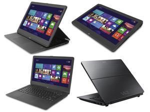 "Sony VAIO Fit 13A Flip PC SVF13N17PXB 13.3"" Touch Screen convertible  laptop/tablet i7-4500U 8GB 256GB SSD HD Webcam HDMI WIndows 8 Professional - Black"