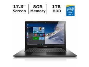"Lenovo Laptop Z70 (80FG00DAUS) Intel Core i5 5200U (2.20 GHz) 8 GB Memory 1 TB HDD NVIDIA GeForce 840M 17.3"" Windows 10 Home"