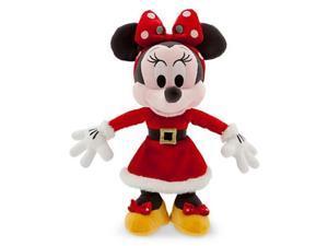 Disney Retro Santa Minnie Mouse 9-Inch Plush Figure