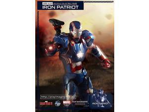 Iron Man 3 Iron Patriot Super Alloy 1:12 Scale Die-Cast Metal Action Figure