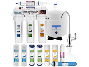 5 Stage Home Drinking Reverse Osmosis System PLUS Extra Full Set- 4 Water Filter