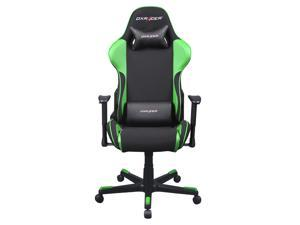DXRacer OH/FE11/NE Black and Green Fabric Gaming Chair includes 2 Free cushions - Formula Series
