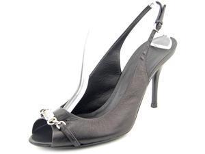 Gucci Darcey Women US 9.5 Black Peep Toe Slingback Heel