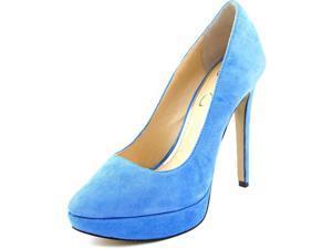 Jessica Simpson Leonne Women US 7 Blue Platform Heel