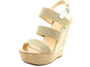 Jessica Simpson Abelle Women US 8.5 Gold Wedge Sandal