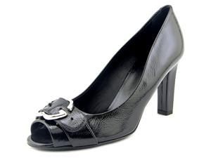 Gucci Sachalin Pump Peep Toe Women US 9 Black Peep Toe Heels EU 39
