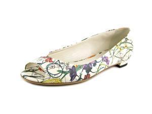 Gucci Salandia Women US 10 White Peep Toe Flats EU 40