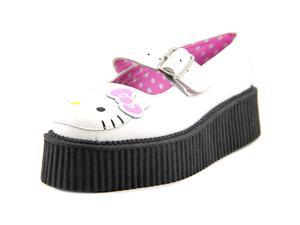 T.U.K. Hello Kitty Mary Jane Creeper Women US 8 White Mary Janes