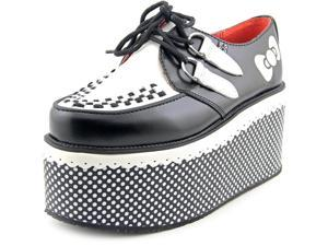 T.U.K. Hello Kitty Red Ribbon Creeper Women US 9 Black Oxford