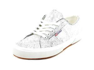Superga 2095 Crackedleaw Women US 9.5 White Sneakers