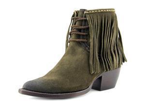 Frye Sacha Fringe Chukka Women US 5.5 Green Apron Chukka Boot