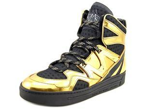Marc By Marc Jacobs Ninja Hi-Top Women US 6 Gold Fashion Sneakers