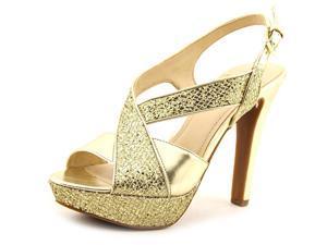 BCBGeneration Hasura2-X Women US 8.5 Gold Platform Sandal EU 38.5