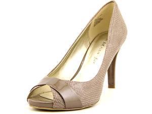 Anne Klein AK Oakes Women US 10 Gray Peep Toe Heels