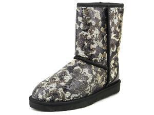 Ugg Australia Sierra Sparkles Women US 7 Black Winter Boot UK 5.5