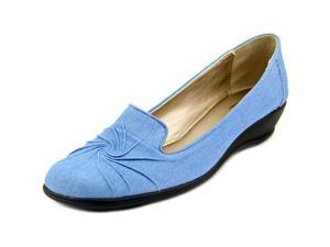 Soft Style by Hush P Rory Women US 8.5 Blue Wedge Heel