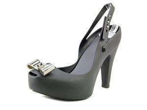 Melissa UltraGirl Heel Women US 5 Black Peep Toe Slingback Heel