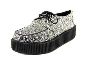 T.U.K. Creeper Kalidescope Women US 9 White Sneakers