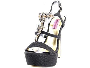 Betsey Johnson Nylo Women US 8.5 Black Platform Heel