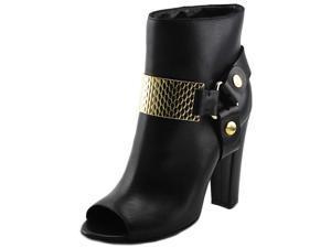 Just Cavalli Trunk Women US 9 Black Peep Toe Bootie