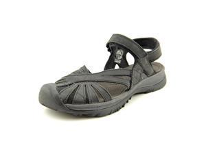 Keen Rose Leather Women US 7.5 Black Sport Sandal