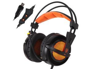 SADES A6 USB 7.1 Surround Sound Professional Gaming Headset Headphone For PC LOL