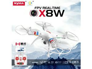 Syma X8W FPV 2.4Ghz Headless RC Quadcopter Drone UVA 2MP Wifi Camera RTF - White